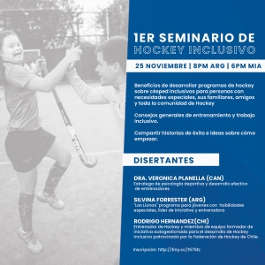 WEBINAR SOBRE HOCKEY INCLUSIVO